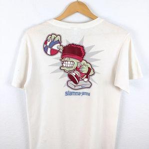 Vtg Nike Basketball NBA Swoosh Y2K Grey Tag Tshirt